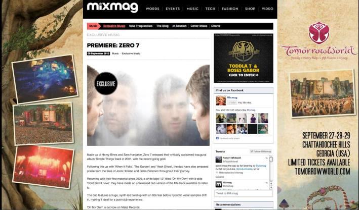 Zero 7 Mixmag