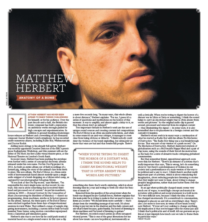 matthew herbert exclaim feature