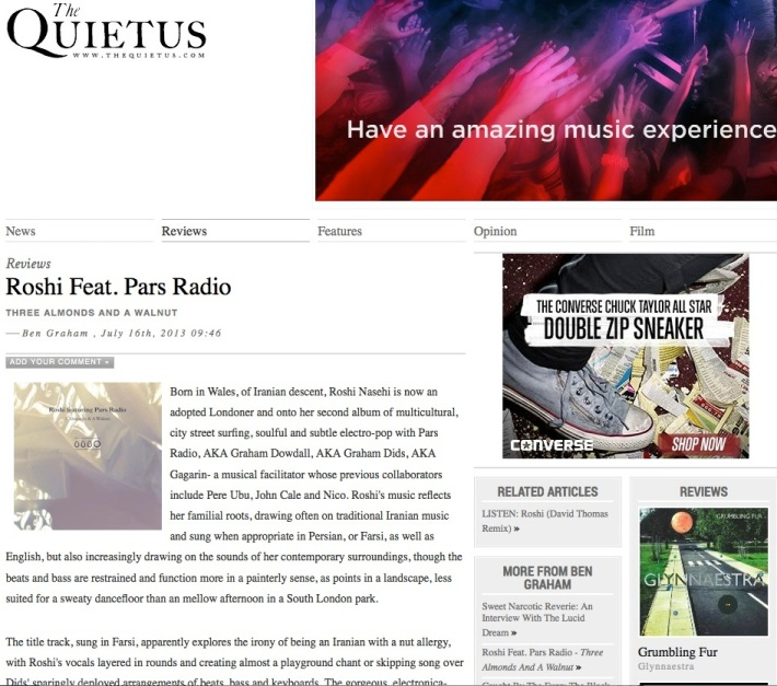 roshi featuring pars radio the quietus
