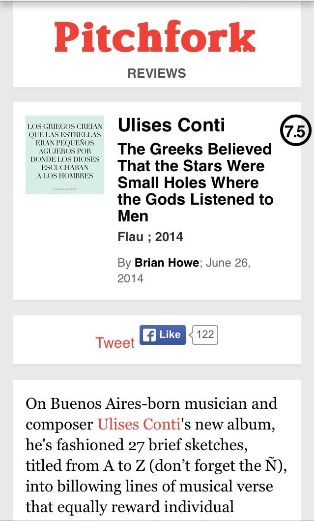 Ulises Conti Pitchfork